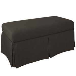 Linen Charcoal 36-Inch Storage Bench
