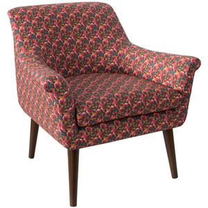 Bloomsbury Rose Ochre Raspberry 34-Inch Chair