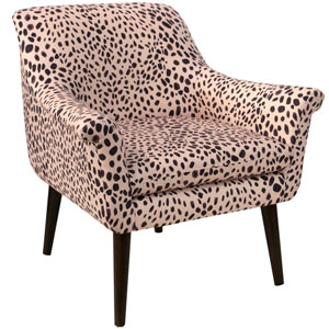 Washed Cheetah Pink Black 34-Inch Chair