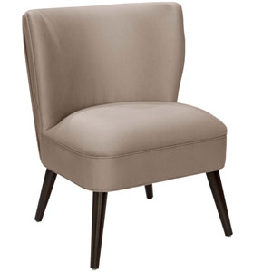 Shantung Dove 34-Inch Pleated Chair