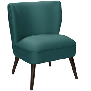 Shantung Peacock 34-Inch Pleated Chair