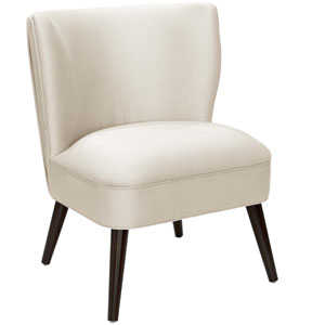 Shantung Pearl 34-Inch Pleated Chair