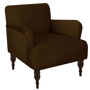 Velvet Chocolate 33-Inch Chair