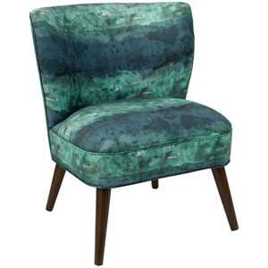 Watercolor Block Teal 35-Inch Chair