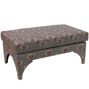 Poppy Taupe 41-Inch Welted Pillowtop Bench