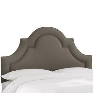 Queen Twill Grey Arched Border Headboard
