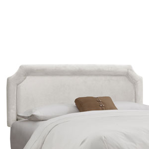 King Notched Headboard in Velvet White