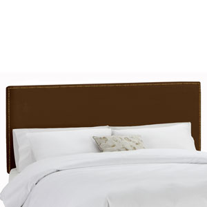 King Nail Button Border Headboard in Premier Chocolate