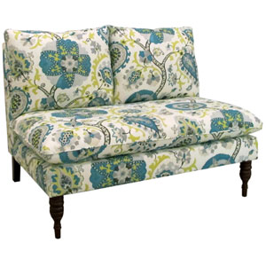 Ladbroke Peacock Armless Loveseat