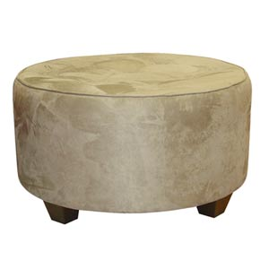 Premier Oatmeal Tufted Round Cocktail Ottoman