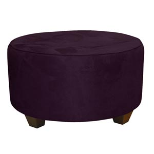 Premier Purple Tufted Round Cocktail Ottoman