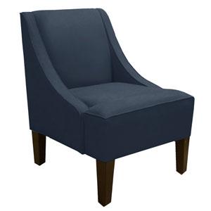Swoop Arm Chair in Linen Navy