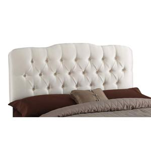 Tufted Arc King Headboard - Shantung Parchment