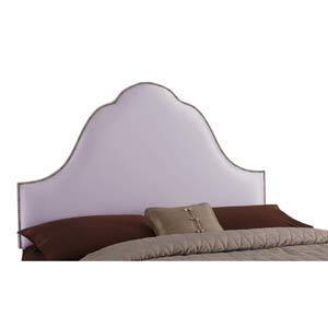 High Arc Nailbutton Queen Headboard - Shantung Lilac