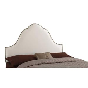 High Arc Nailbutton King Headboard - Shantung Parchment