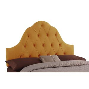 High Arc Queen Headboard - Shantung Aztec