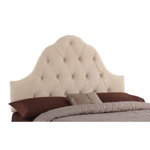 High Arc King Headboard - Shantung Parchment