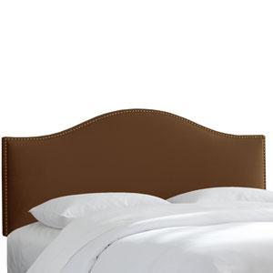 Queen Premier Chocolate Nail Button Headboard