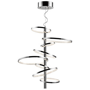 Sirkus Chrome Eight-Light LED Pendant, 4000K