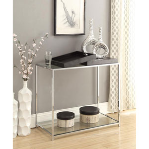 Palm Beach Black 30-Inch High Console Table