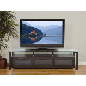 Decor Espresso and Black Entertainment Media Video Stand