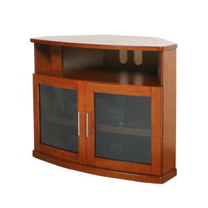Newport Walnut 40-Inch Corner TV Cabinet