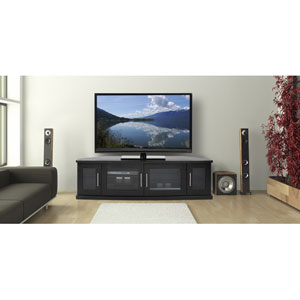 Newport 62-Inch Black Oak TV Stand