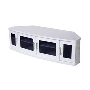 Newport 62-Inch White TV Stand