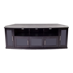 Newport 80-Inch Black Oak TV Stand