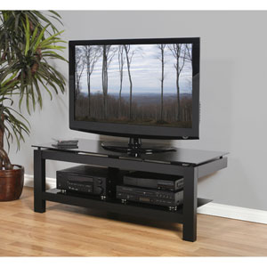 SL 64-Inch Black Satin TV Stand with
