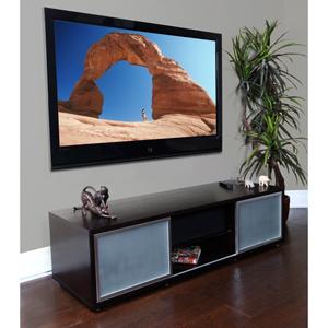 SR 65-Inch Black Oak TV Stand