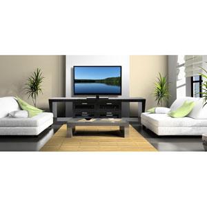 Valencia 87-Inch Black Oak TV Stand