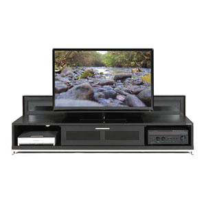 Valencia 79-Inch Black Oak TV Stand