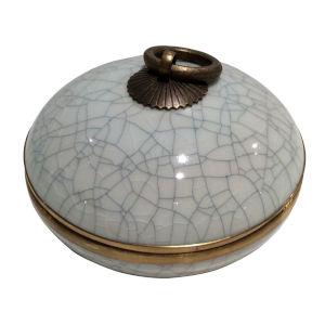 Blue White Gold Cache Pot