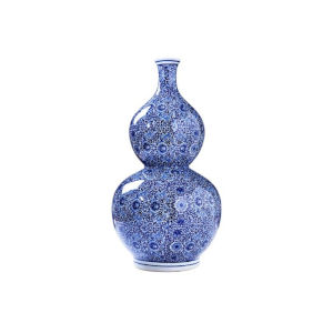 Blue White 25-Inch Gord Vase