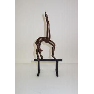 Bronze Black Gymnast Balance Beam Bronze Iron