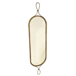 Antique Gold Loop Hallway Mirror
