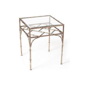 Antique Silver Bamboo Table