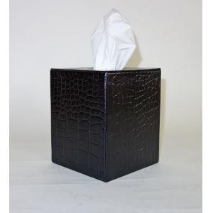 Black Leather Tissue Box.