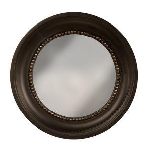 Black Gold Colonial Convex Mirror