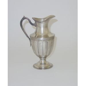 Antique Silver Pitcher Vase