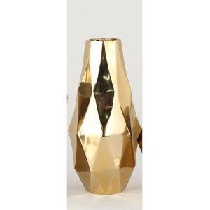Gold 12-Inch Angled Vase
