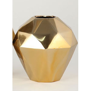 Gold Eight-Inch Angled Vase
