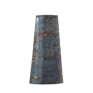 Multicolor Flamed Vase with Gold Trim