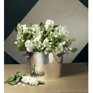 Silver Oval Container-Planter