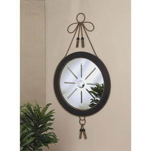 Black and Bronze Tassel Mirror Iron with Star Cut Glass