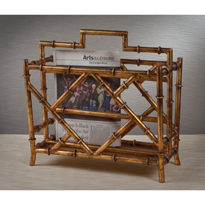 Antique Gold Magazine Rack