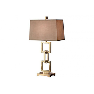Antique Brass Square Link Lamp