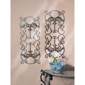 Bronze Fleur De Lis Iron Wall Panels