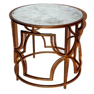 Antique Gold 24-Inch Quadrefoil Table